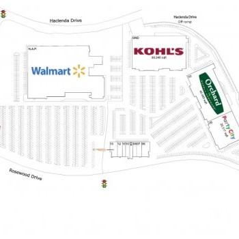 Plan of mall Metro 580
