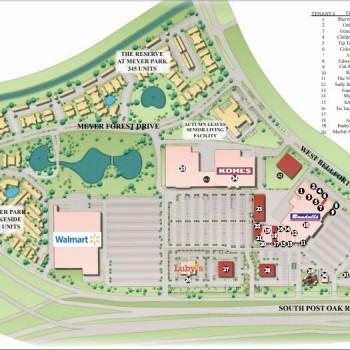 Plan of mall Meyer Park Shopping Center