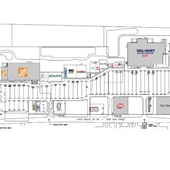 Plan of mall Miami Valley Crossing