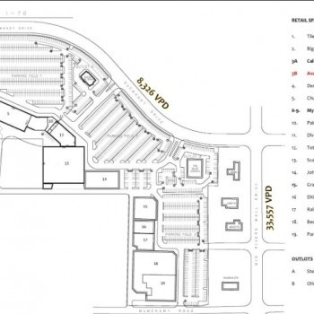 Plan of mall Mid Rivers Plaza