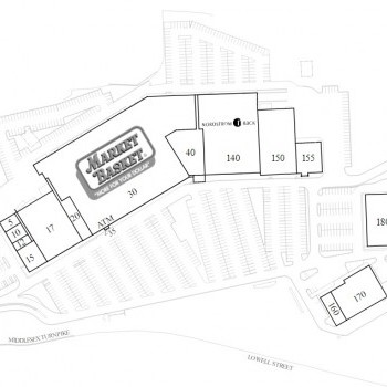 Plan of mall Middlesex Commons