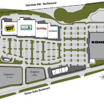 Plan of mall Midtown Commons