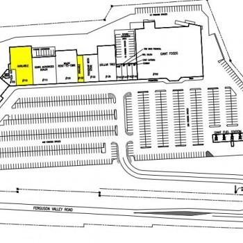Plan of mall Mifflin County Commons