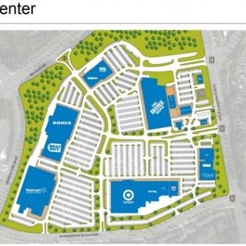 Plan of mall Milestone Center