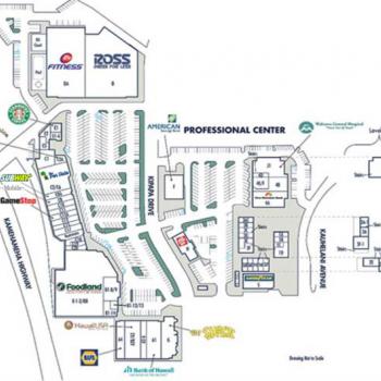 Plan of mall Mililani Shopping Center