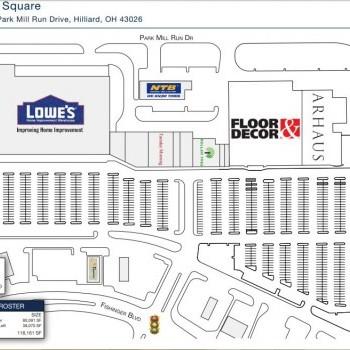 Plan of mall Mill Run Square