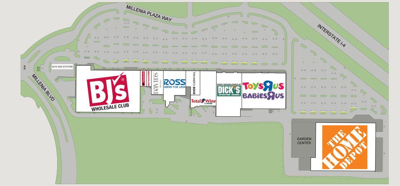 Home Depot In Millenia Plaza Store Location Hours Orlando Florida Malls In America