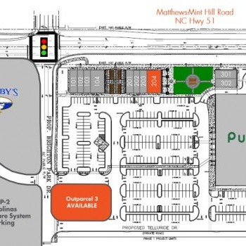 Plan of mall Mint Hill Commons