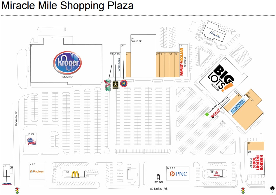 Miracle Mile Las Vegas Map.Miracle Mile Shopping Center Store List Hours Location Toledo