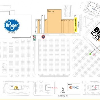 Plan of mall Miracle Mile Shopping Plaza