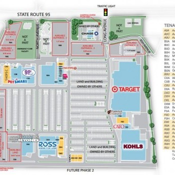 Plan of mall Mohave Crossroads Shopping Center