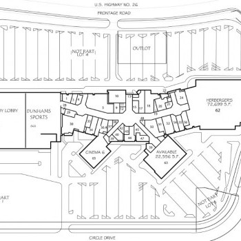 Plan of mall Monument Mall