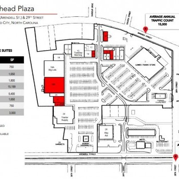 Plan of mall Morehead Plaza