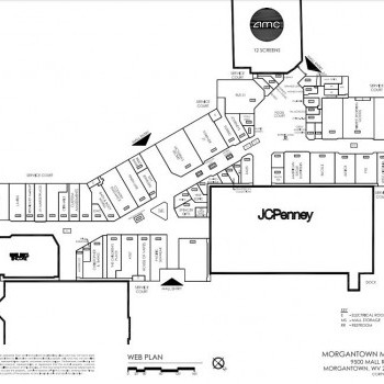 Plan of mall Morgantown Commons