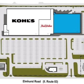 Plan of mall Mount Prospect Center