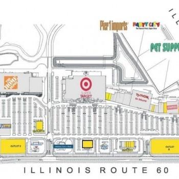 Plan of mall Mundelein Crossings