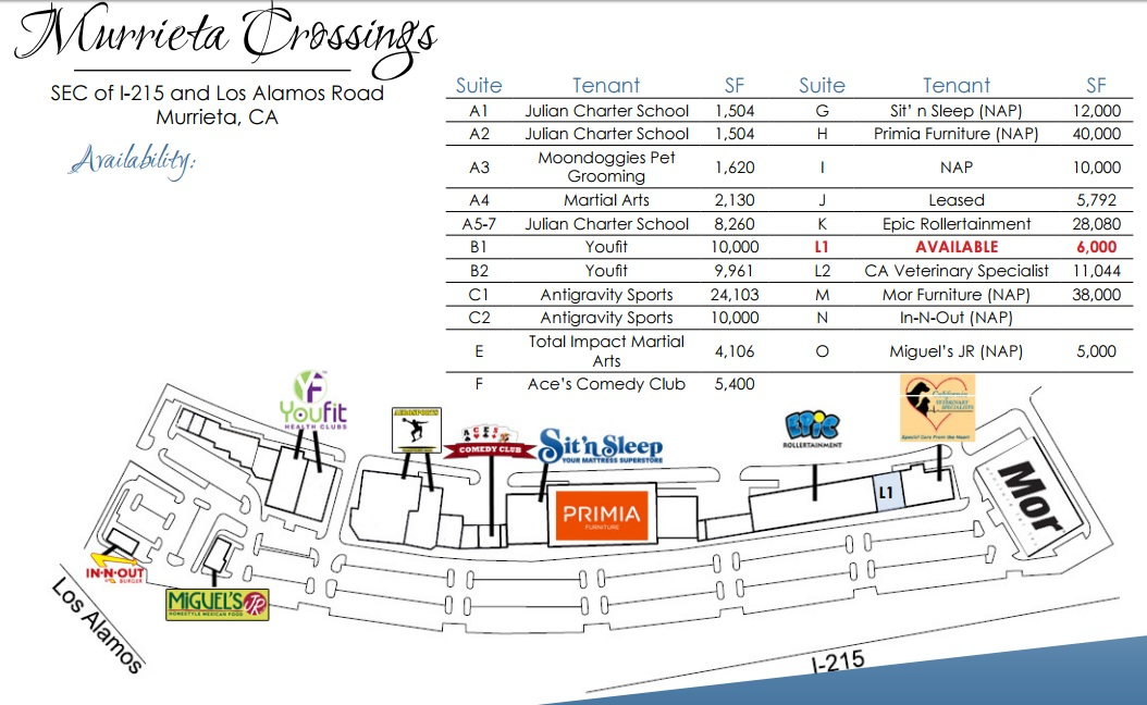 Captivating Ethan Furniture In Murrieta Crossings   Store Location Plan
