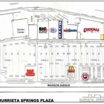 Plan of mall Murrieta Springs Plaza