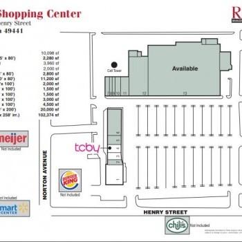 Plan of mall Muskegon Shopping Center