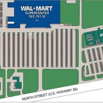 Plan of mall Nacogdoches Marketplace I