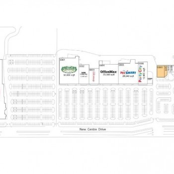 Plan of mall New Centre Market