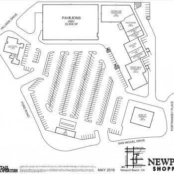 Plan of mall Newport Hills Center