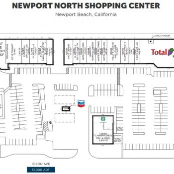 Plan of mall Newport North Shopping Center