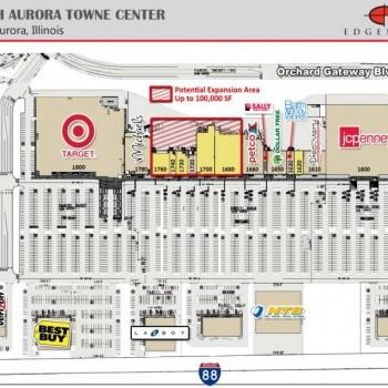Plan of mall North Aurora Towne Center