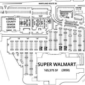 Plan of mall North Carroll Plaza