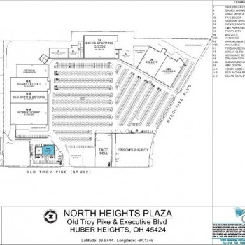 Plan of mall North Heights Plaza