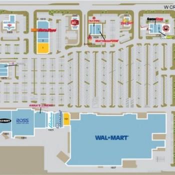 Plan of mall North Mesa Plaza
