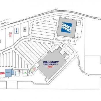 Plan of mall North Park Plaza