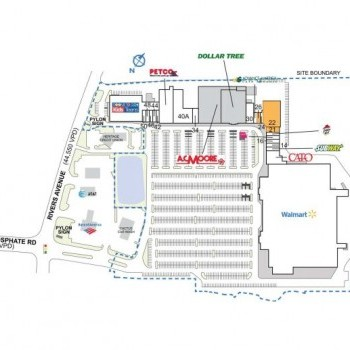 Plan of mall North Pointe Plaza
