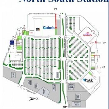 Plan of mall North South Station