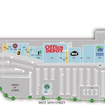 Plan of mall Northbrook Shopping Center