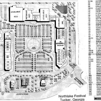 Plan of mall Northlake Tower Festival Mall