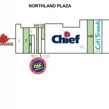 Plan of mall Northland Plaza