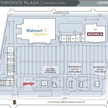 Plan of mall NorthPointe Plaza
