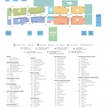 Plan of mall Northridge Mall