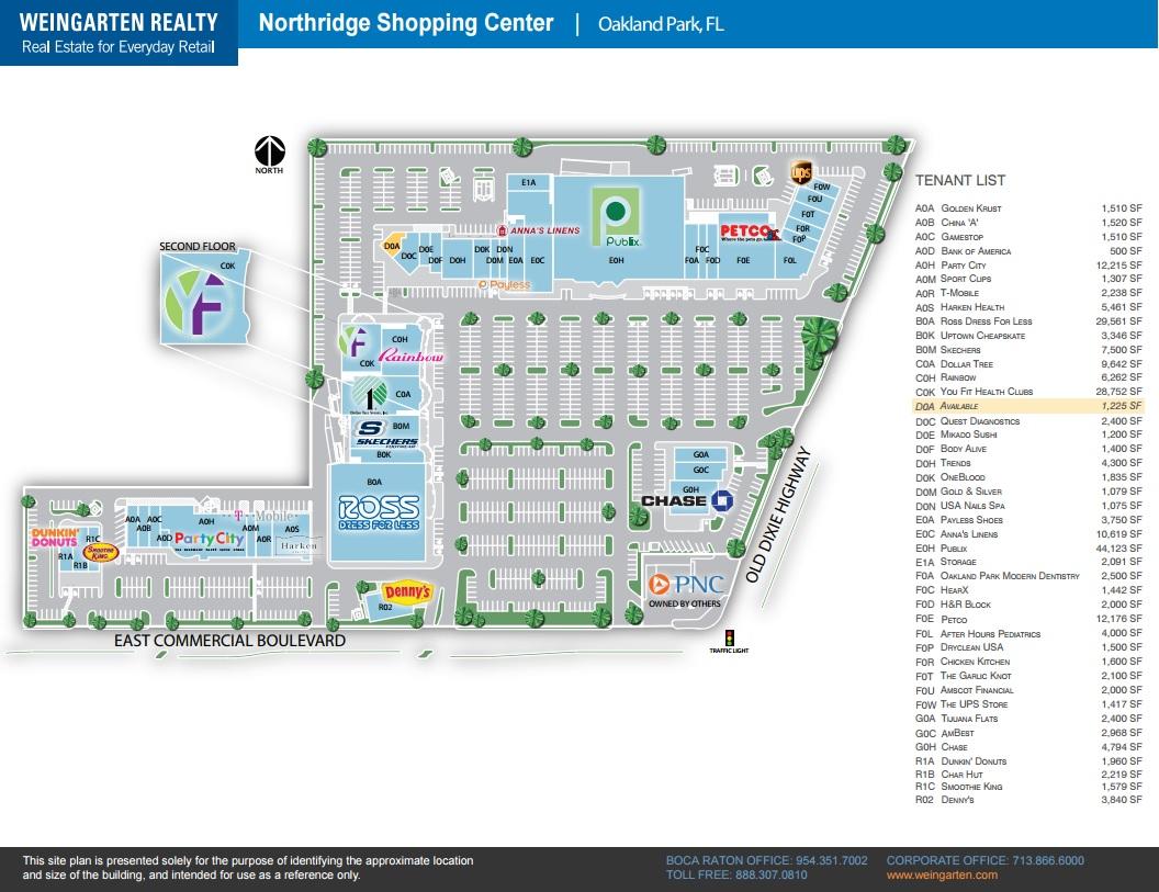 Florida Mall Map.Oakland Park Modern Dentistry In Northridge Shopping Center Store