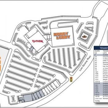 Plan of mall Northway Plaza