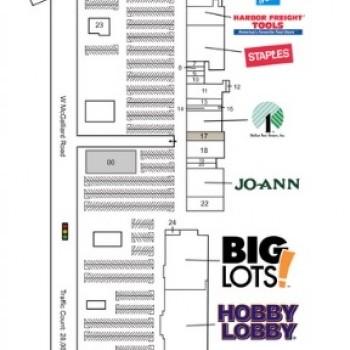 Plan of mall Northwest & West Plazas