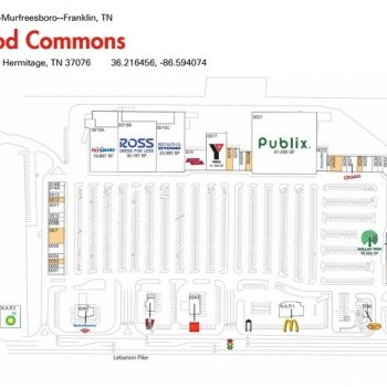 Plan of mall Oakwood Commons