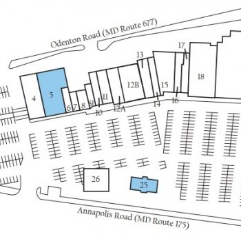 Plan of mall Odenton Shopping Center