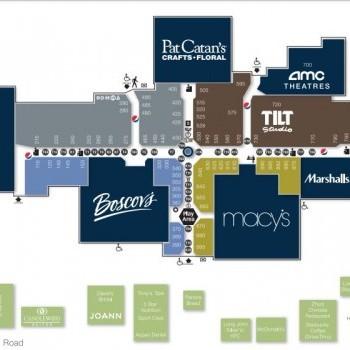 Plan of mall Ohio Valley Mall