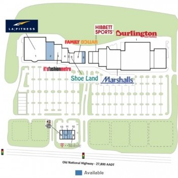 Plan of mall Old National Marketplace