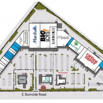 Plan of mall Oregon Trail Center