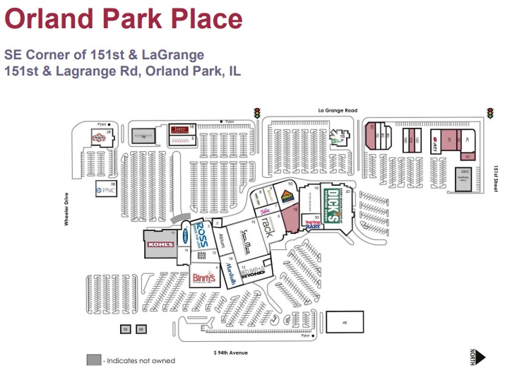 Orland Park Place - store list, hours, (location: Orland ...