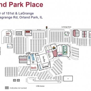 Plan of mall Orland Park Place