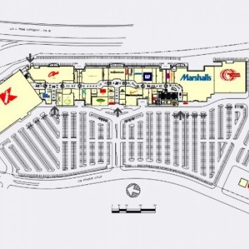 Plan of mall Outlets at Montehiedra
